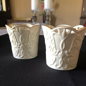 Pair of Lenox Votive Candle Holders Giftware